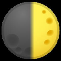 First Quarter Moon Symbol google emoji