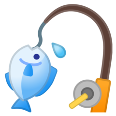 Fishing Pole And Fish google emoji