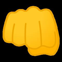 Fisted Hand Sign google emoji