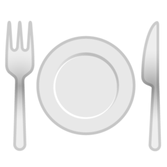 Fork And Knife With Plate google emoji