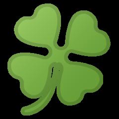 Four Leaf Clover google emoji
