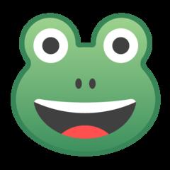 Frog Face google emoji