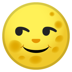 Full Moon With Face google emoji