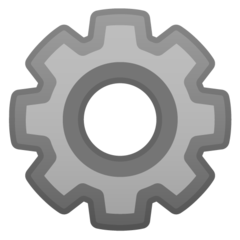 Gear google emoji