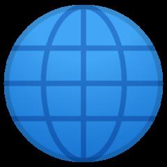 Globe With Meridians google emoji