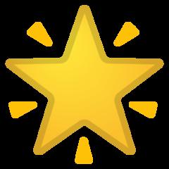 Glowing Star google emoji