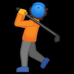 Golfer google emoji