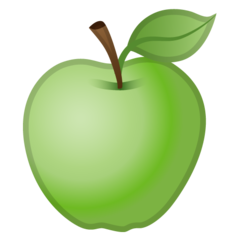 Green Apple google emoji