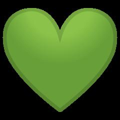Green Heart google emoji