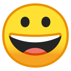 Grinning Face google emoji