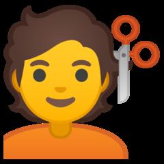 Haircut google emoji