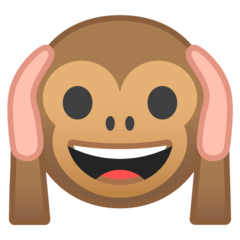 Hear-no-evil Monkey google emoji