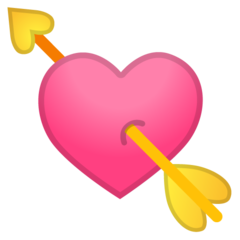 Heart With Arrow google emoji