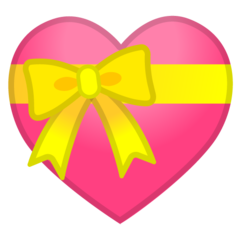Heart With Ribbon google emoji
