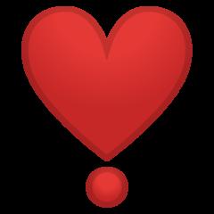 Heavy Heart Exclamation Mark Ornament google emoji