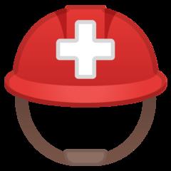 Helmet With White Cross google emoji