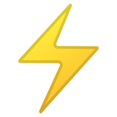 High Voltage Sign google emoji