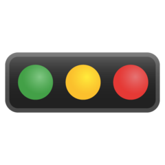Horizontal Traffic Light google emoji