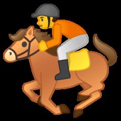 Horse Racing google emoji