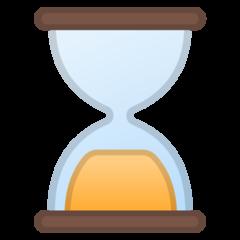 Hourglass google emoji