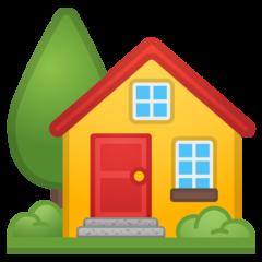 House With Garden google emoji