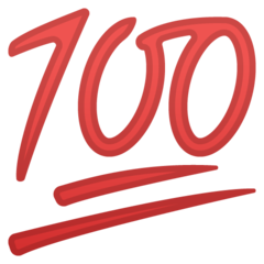 Hundred Points Symbol google emoji