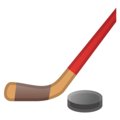 Ice Hockey Stick And Puck google emoji