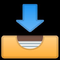 Inbox Tray google emoji
