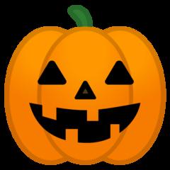 Jack-o-lantern google emoji