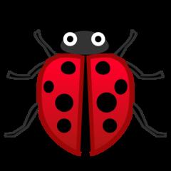 Lady Beetle google emoji