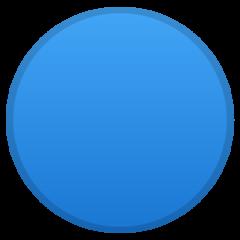 Large Blue Circle google emoji