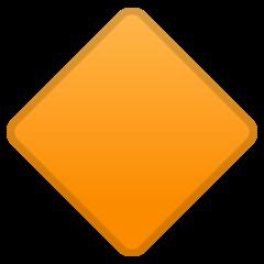 Large Orange Diamond google emoji
