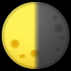 Last Quarter Moon Symbol google emoji