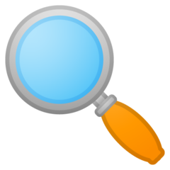 Left-pointing Magnifying Glass google emoji
