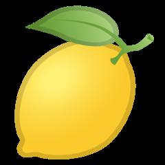 Lemon google emoji