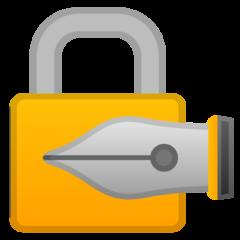 Lock With Ink Pen google emoji