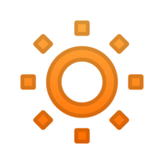Low Brightness Symbol google emoji