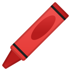 Lower Left Crayon google emoji