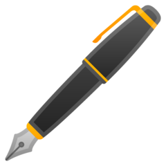 Lower Left Fountain Pen google emoji