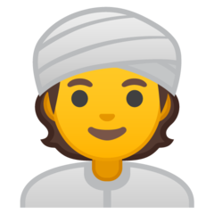 Man With Turban google emoji