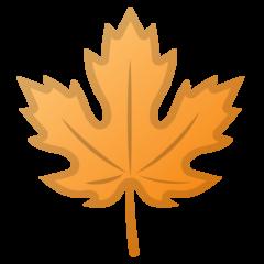 Maple Leaf google emoji