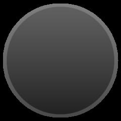 Medium Black Circle google emoji