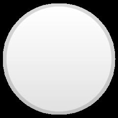 Medium White Circle google emoji