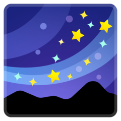 Milky Way google emoji