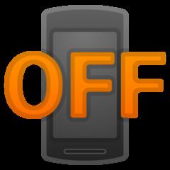 Mobile Phone Off google emoji