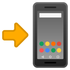 Mobile Phone With Rightwards Arrow At Left google emoji