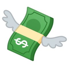Money With Wings google emoji