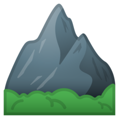 Mountain google emoji