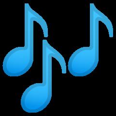 Multiple Musical Notes google emoji