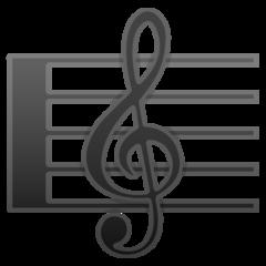 Musical Score google emoji